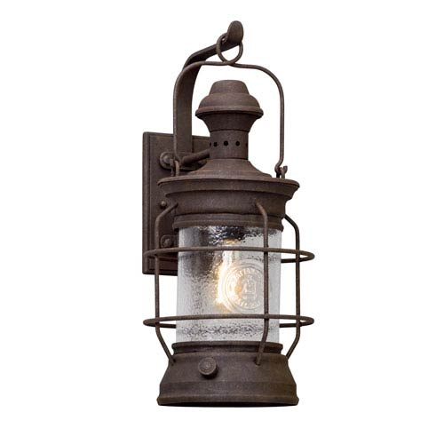 Atkins Centennial Rust 9.5-Inch One-Light Outdoor Wall Lantern