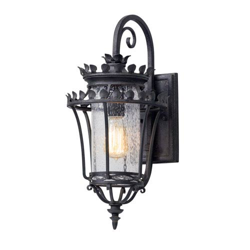 Troy Greystone Forged Iron One-Light Outdoor Wall Lantern