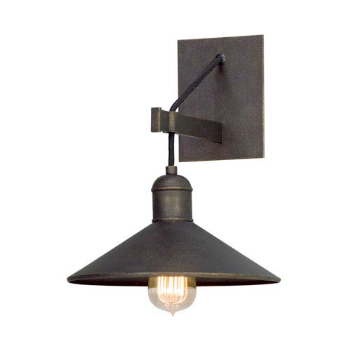 Troy McCoy Vintage Bronze One-Light Wall Sconce