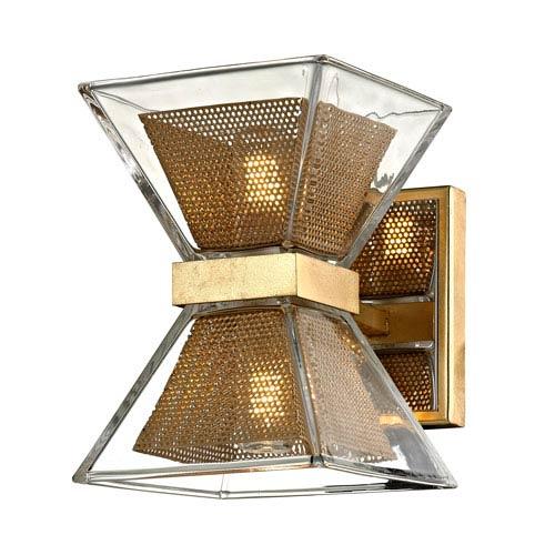 Troy Expression Gold Leaf Two Light LED Bath Vanity B5801 | Bellacor