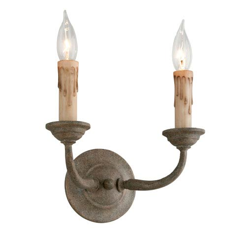 Troy Cyrano Earthen Bronze Two-Light Wall Sconce