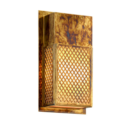 Troy Ibiza Natural Rust Two-Light Outdoor Wall Sconce with Opal White Glass