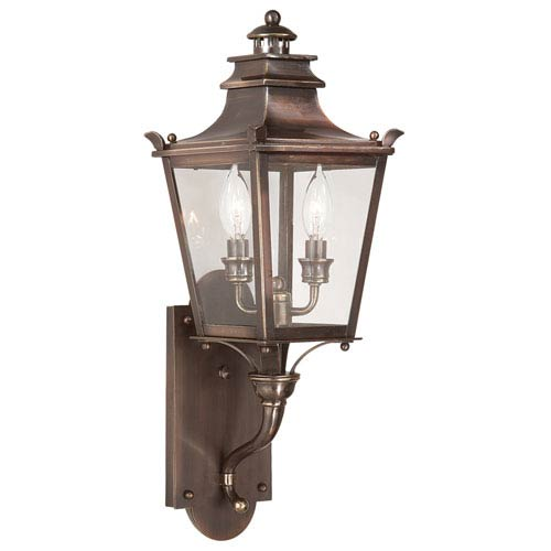 Dorchester Large Two-Light Outdoor Wall Mount