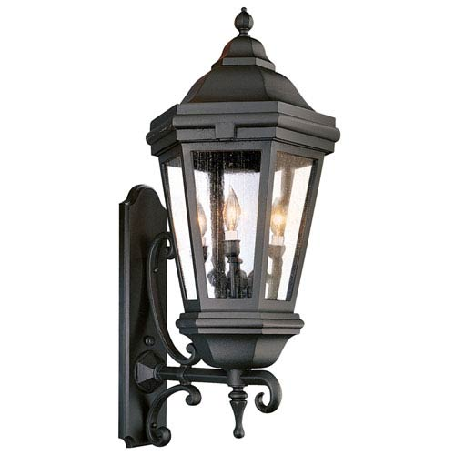 Verona Extra Large Matte Black Exterior Wall Light