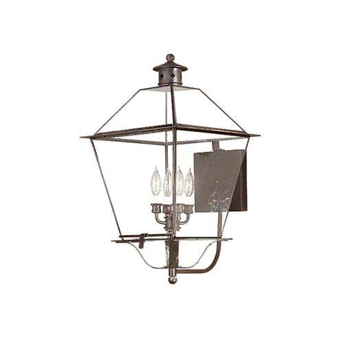 Troy Montgomery Natural Rust Four-Light Large Outdoor Wall Lantern