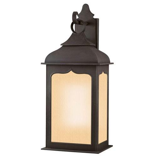 Williamsburg® Henry Street Fluorescent Large Charred Iron Exterior Wall Light