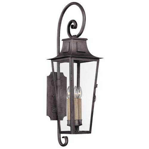 Troy Aged Pewter French Quarter Large One-Light Fluorescent Wall Mount