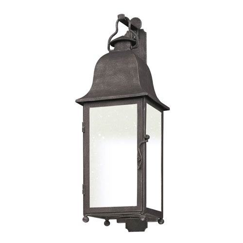 Troy Aged Pewter Larchmont Medium One-Light Fluorescent Wall Mount
