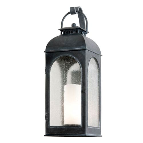 Troy Antique Iron Derby Large One-Light Fluorescent Wall Mount