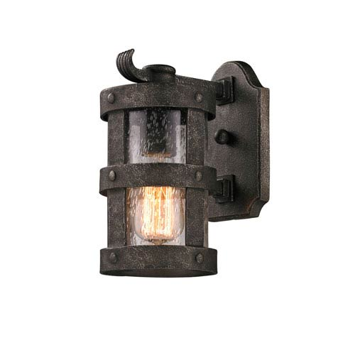 Troy Bronze Barbosa Small One-Light Fluorescent Wall Mount