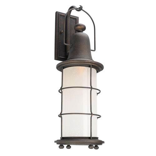 Maritime Vintage Bronze One-Light Eight-Inch Fluorescent Outdoor Wall Sconce