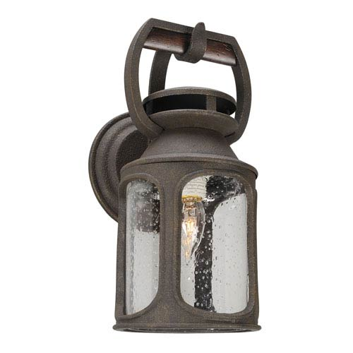 Old Trail Centennial Rust One-Light Six-Inch Fluorescent Outdoor Wall Sconce