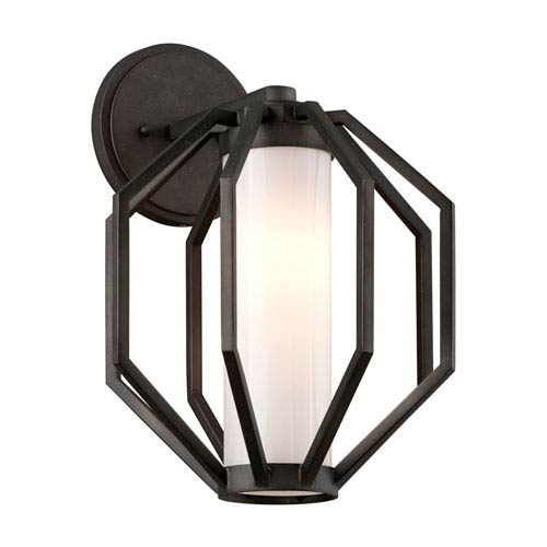 Boundary Textured Graphite 10.5-Inch One-Light Outdoor LED Wall Lantern