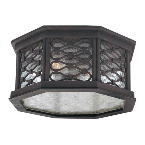 Los Olivos Old Iron Two-Light Outdoor Flush Mount
