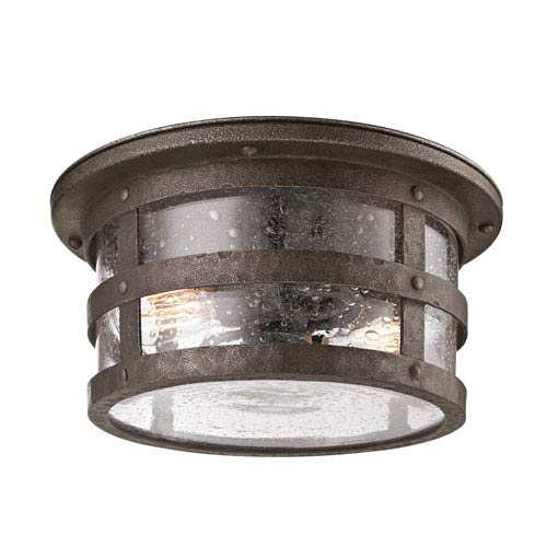Troy Bronze Barbosa Two-Light Ceiling Flush Mount