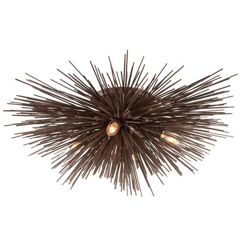 Troy Uni Tidepool Bronze Four-Light Semi-Flush