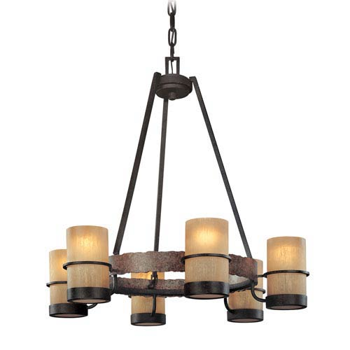 Bamboo Six-Light Chandelier
