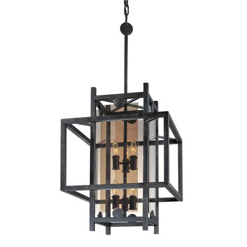 Troy Crosby French Iron Eight-Light Pendant
