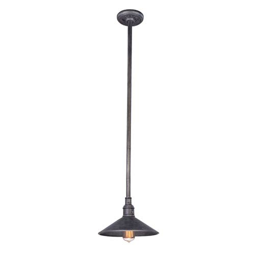 Troy Toledo Old Silver One-Light 11-Inch Outdoor Pendant