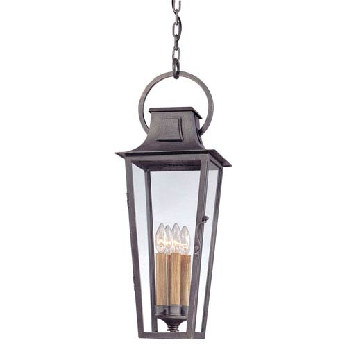 Aged Pewter French Quarter Four-Light Hanging Post Mount Lantern