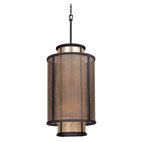 Troy Bronze Copper Mountain 21-Inch Eight-Light Drum Pendant