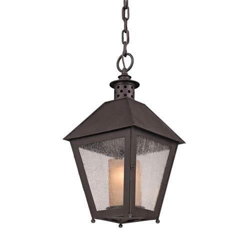 Centennial Rust Sagamore One-Light Hanging Post Mount Lantern Pendant