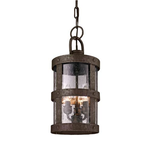 Bronze Barbosa Three-Light Outdoor Hanging Pendant