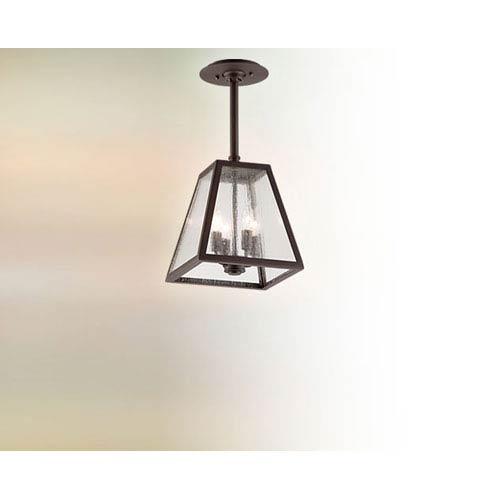 Troy River Valley Rust Amherst Four-Light Semi-Flush Mount with Coastal Finish
