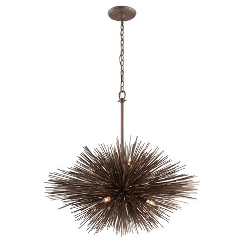 Uni Tidepool Bronze Eight-Light Large Pendant