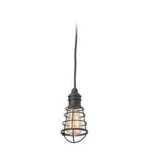 Troy Conduit Old Silver One Light Mini Pendant