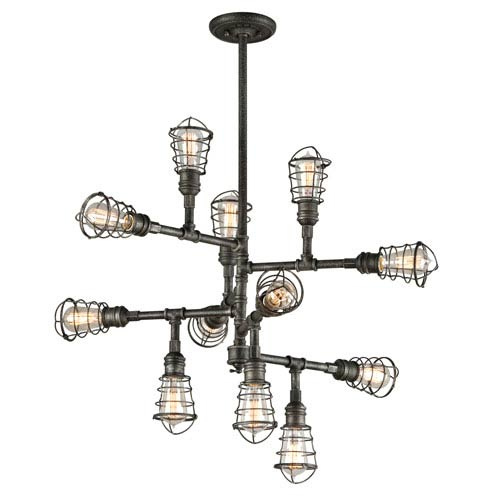 Conduit Old Silver 12 Light Large Chandelier