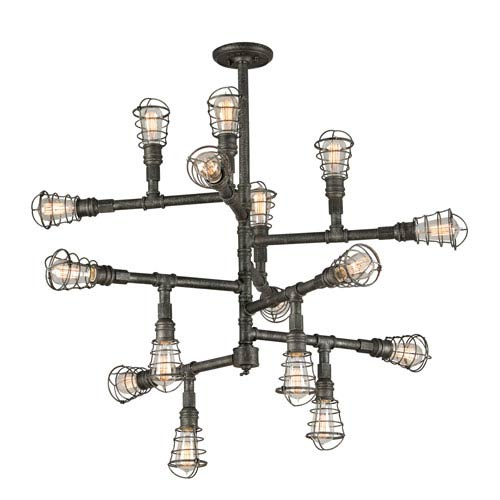 Troy Conduit Old Silver 16 Light Extra Large Chandelier