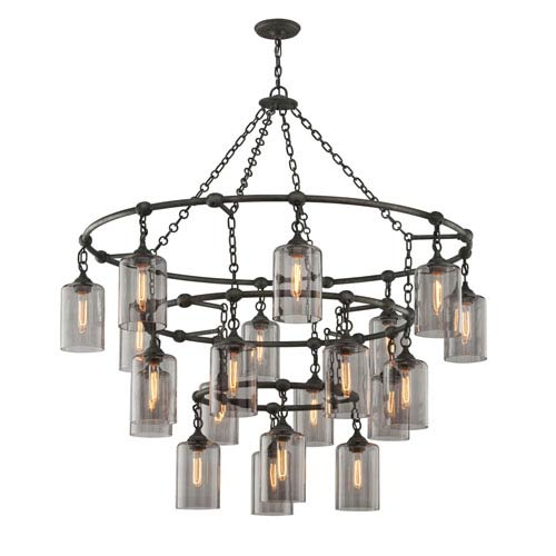 Gotham Aged Silver Twenty-Light Chandelier