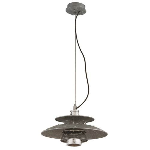 Idlewild Aviation Gray One-Light Eleven-Inch LED Pendant