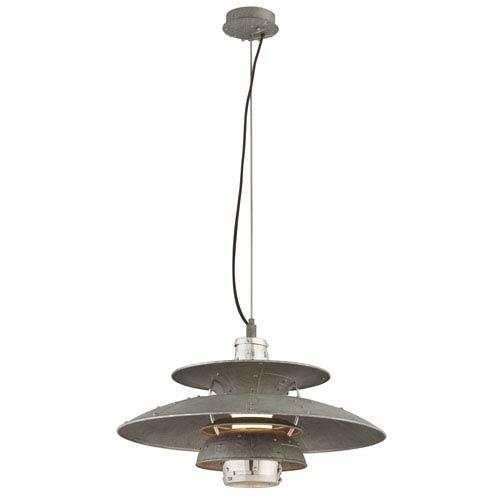 Idlewild Aviation Gray One-Light LED Fifteen-Inch Pendant