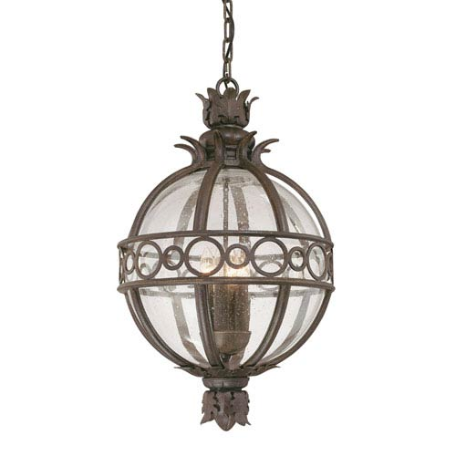 Campanile  Bronze Three-Light Outdoor Hanging Lantern