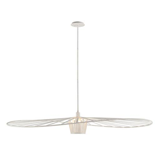 Troy Tides Textured White 60-Inch One-Light Pendant