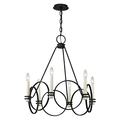 Troy Juliette Country Iron Six-Light Chandelier