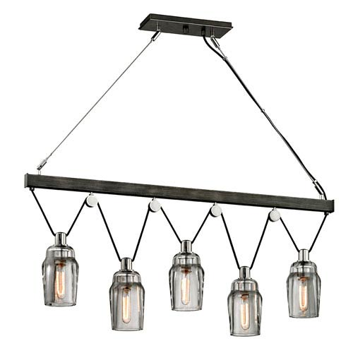 Citizen Graphite and Polished Nickel Linear Pendant