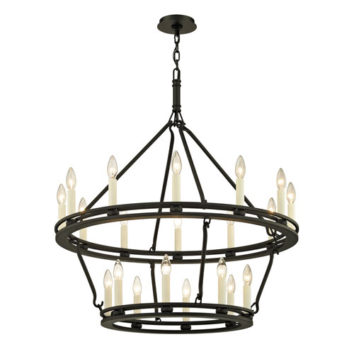Troy Sutton Textured Black 32-Inch Chandelier