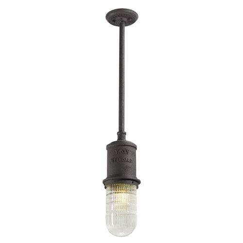 Dock Street Centennial Rust One-Light Twelve-Inch Fluorescent Outdoor Mini Pendant