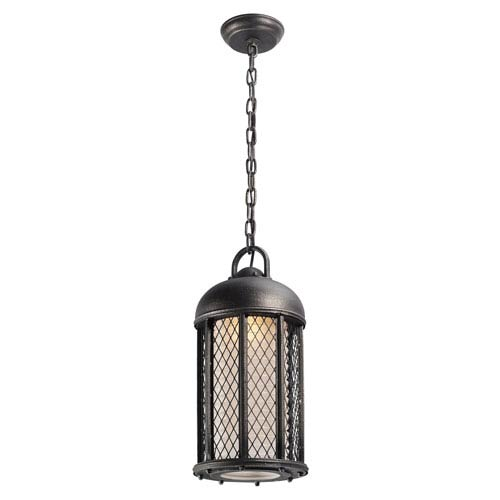 Signal Hill Aged Silver One-Light Eight-Inch Fluorescent Outdoor Mini Pendant