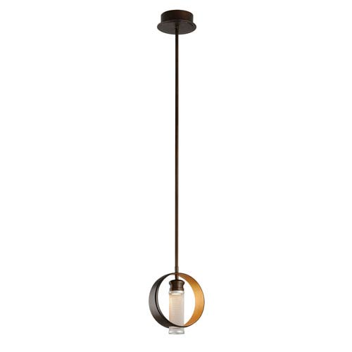 Troy Insight Modern Bronze 8-Inch One-Light Mini LED Mini Pendant
