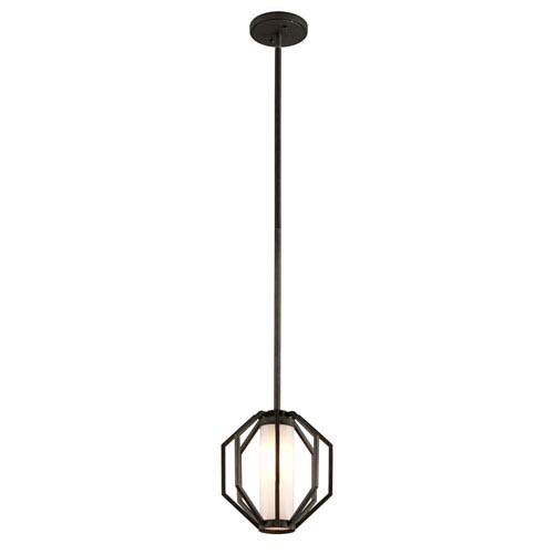 Boundary Textured Graphite One-Light Outdoor LED Pendant