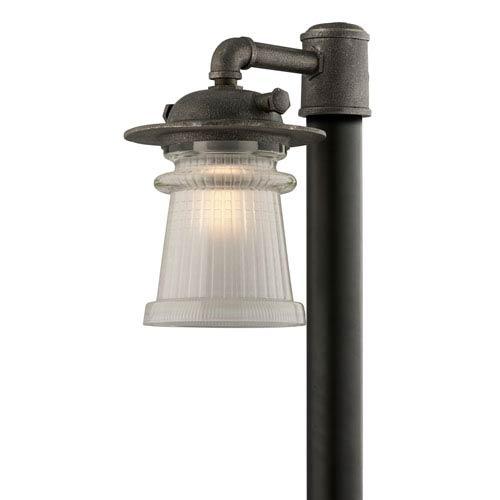 Pearl Street Charred Zinc One-Light Ten-Inch Outdoor Post Mount