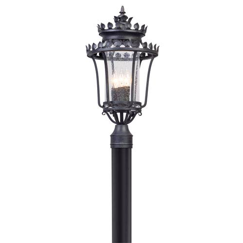 Troy Greystone Forged Iron Three-Light Outdoor Post Mount