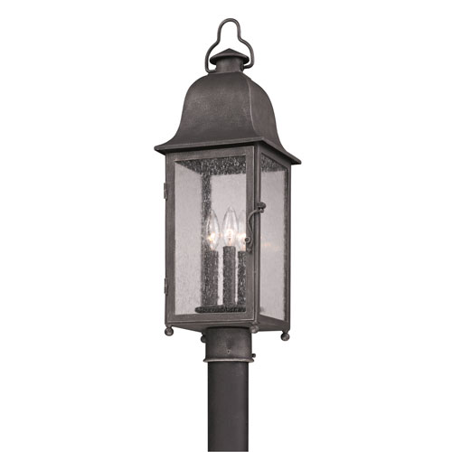 Aged Pewter Larchmont One-Light Fluorescent Post Mount