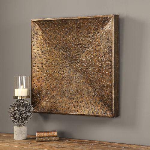 Blaise Bronze 32H x 32W-Inch Wall Art