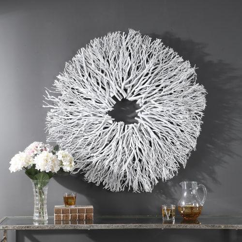 Alene White 40-Inch Wall Decor