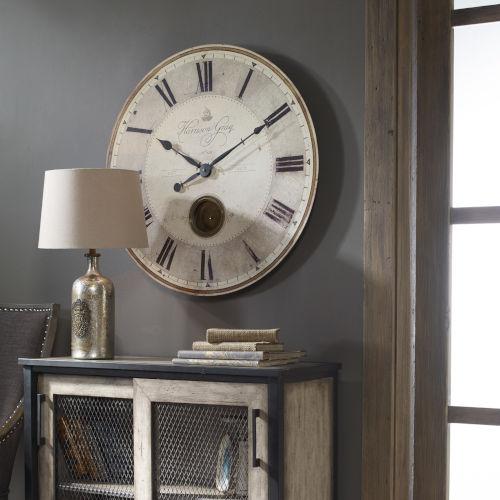 Harrison Gray Bronze and White 30-Inch Wall Clock